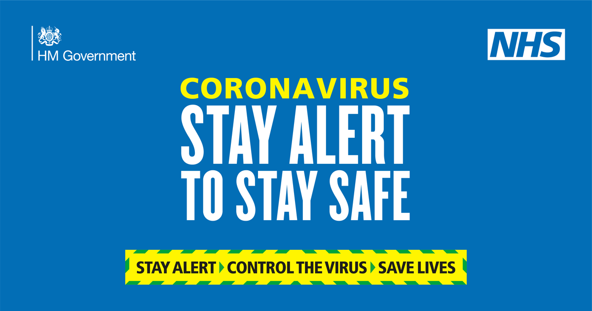 Coronavirus Stay Alert to stay Safe